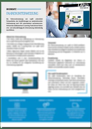 Icon-Produktinformation-Fahrerunterweisung